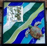 sea turtle,turtle,ocean,beach,mosaic,stained glass