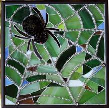 spider,insect,garden,arachnid,mosaic,stained glass